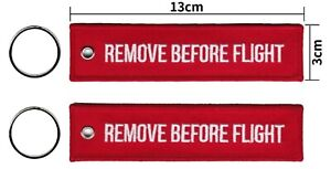 REMOVE BEFORE FLIGHT Keyring Keychain Aircraft Luggage Military Aircrew