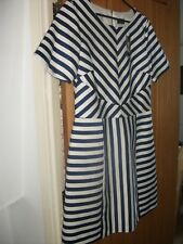 Oasis blue and white striped skater dress. Size 14. BNWT. Originally £60!