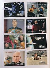 Lot of 8 assorted Star Trek TNG trading cards