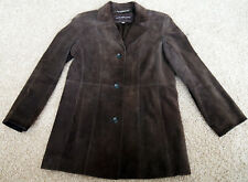 Andrew Marc New York Brown Soft Suede Brown Leather Coat - Women M