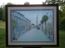 BONNIE HOLDEN SIGNED ART PRINT LE OLD CHARLESTON SC CHURCH ST. GOLD SEAL FRAMED