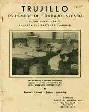 Dominican Republic C-1952 Booklet, Trujillo Es Hombre de Trabajo Intenso / Mañon