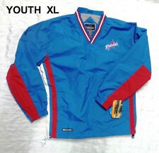 NWT NE PATRIOTS Youth XL Holloway V- Neck Pullover Windbreaker Water Resistant