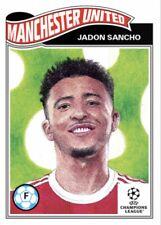 TOPPS UCL SOCCER UEFA LIVING SET CARD MANCHESTER UNITED JADON SANCHO #368