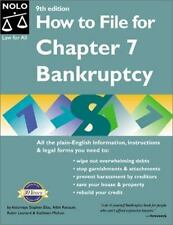 How to File for Chapter 7 Bankruptcy (How to File for Chapter 7 Bankruptcy, 9th