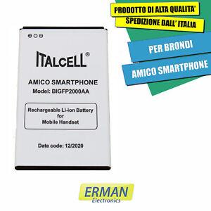 BATTERIA PER BRONDI AMICO SMARTPHONE BIGFP2000AA