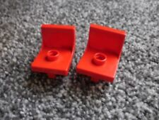 vintage Duplo Lego red chairs