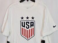 Nike USA Crest Women's T-Shirt, White, SIZE LARGE, AJ7716-100