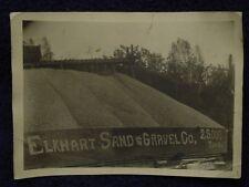 1930s ELKHART LAKE, WI SAND & GRAVEL Co 25,000 Ton Pile + Train Tracks B&W Photo