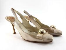 Christian Dior Metallic Leather Slingbacks, Women's Shoes Size UK 4.5/EU 37.5