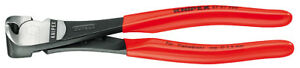 Knipex 6701160 High Leverage End Cutting Nipper Black, Plastic Coated 6 1/4 In