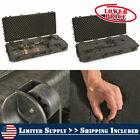 Waterproof Compound Bow Hard Case Archery Rifle Wheels Padded Storage Lock Box