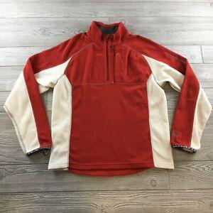 Salomon Quarter  Zip Soft Shell Fleece Jacket Men's Large Red Polartec