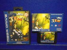 Sega Mega Drive EARTHWORM JIM Boxed COMPLETE Game PAL