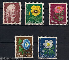 Schweiz - 1958 - Mi. Nr. 663-667 - Gestempelt