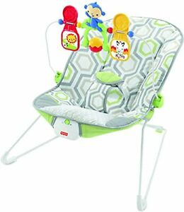 Fisher-Price Baby Bouncer - Geo Meadow Infant Soothing and Play Seat Multi