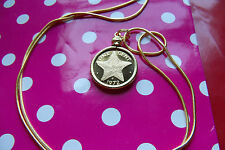 """NICE 1972 Bahamas Starfish Proof Coin pendant on a 24"""" Gold Filled Snake Chain."""