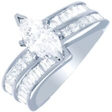 3.00 Carat GIA Certified Marquise Cut Diamond Engagement Ring 18k White Gold