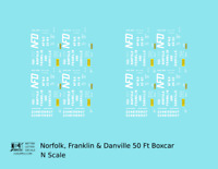 K4 N Decals Norfolk, Franklin and Danville 50 Ft Auto Boxcar White