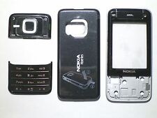 Full Black Fascia facia housing cover faceplate case for Nokia N81