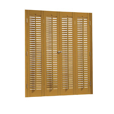 """Faux Wood DIY Traditional 1 1/4"""" Interior Shutter Kits 35"""" Width"""