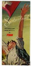 1948 TWA Brochure to Switzerland  w/ Plane over Alps