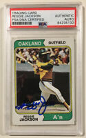 1974 Topps REGGIE JACKSON Signed Autographed Baseball Card PSA/DNA Oakland A's