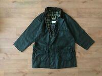 Barbour Men's Gamefair Green Waxed Coat Jacket C38/97CM Fishing Hunting Vintage