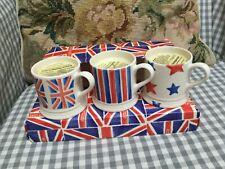 Emma Bridgewater Set of 3 Mini Candles, Union Jack, Stripes and Stars