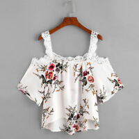 Fashion Women's Plus Size Casual Floral Shirt Loose Summer T-shirt Tops Blouse