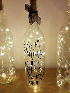 ❤ Handmade light up wine bottles ❤