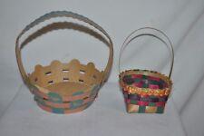 2 Vintage Easter Baskets cardboard with ducks Usa & Japan small basket Rare Euc