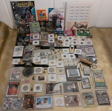 US/World Coin Lot Estate Miscellaneous Silver/Coin Currency Cards Watches ++More