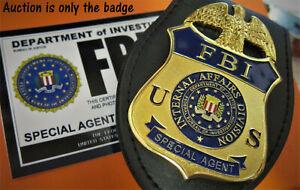xx/ Collector badge, Movie Prop *Special Agent* , FBI Internal Affairs, HM: B&C