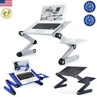 360° Adjustable Laptop Table Stand Lap Sofa Bed Tray Computer Notebook Desk Fan