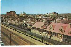 POSTCARD NORTHERN PACIFIC STATION NORTH COAST LIMITED BILLINGS MONTANA
