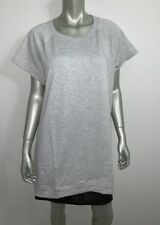 IDEOLOGY WOMAN NWT Heather Gray Short Sleeve Tunic Top Shirt Plus sz 2X