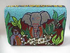 Bradley Chicago Swarovski Crystal African animal Purse Elephant Leopard