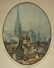 Luigi Kasimir ( 1881-1962 ) Blick über die Dächer auf dem Stephansdom