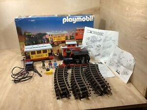 Vintage Geobra Playmobil 3958 Train Set Colorado Railroad Tracks W/ Box G Scale