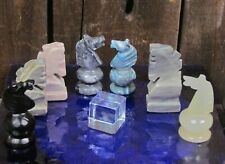Replacement Stone Chess Pieces Knights 7 Variations Choose Match Carved Mexico