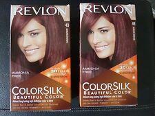 Revlon ColorSilk Permanent Hair Color - #49 AUBURN BROWN - 2 Boxes -  New/Sealed