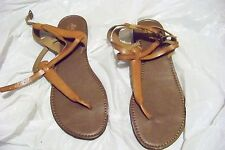 womens bass kennedy brown t-strap sandals shoes size 9 1/2