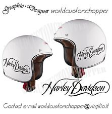ADESIVO DECAL STICKERS MOTO CUSTOM CASCO REPLICA HARLEY DAVIDSON