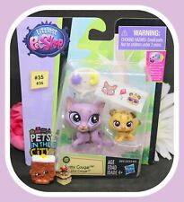 ❤️NEW Littlest Pet Shop LPS #35 #36 Sunny Cougar Cubby Mom Baby Cub Cat❤️