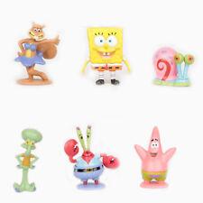 SPONGEBOB Squarepants Set di 6 Figure DECORAZIONI PER TORTA Giocattolo Decorazione per Torta Bambini Divertimento