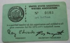 1972-73 NBA Ticket Pass Wilt Chamberlain Last GM/ Cowens MVP/Heinsohn Coach YR/