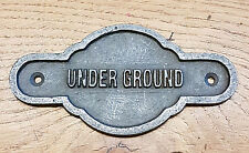 London Underground Railway- Solid Cast Iron Vintage Style Totem Door Plaque Sign