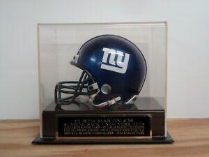 Curtis Martin Football Mini Helmet Display Case W/ A New York Jets Nameplate