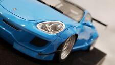 NEW 1/18 Porsche Cayman Pandem Rocket Bunny LTMW AB Models Baby Blue W/Base NIB